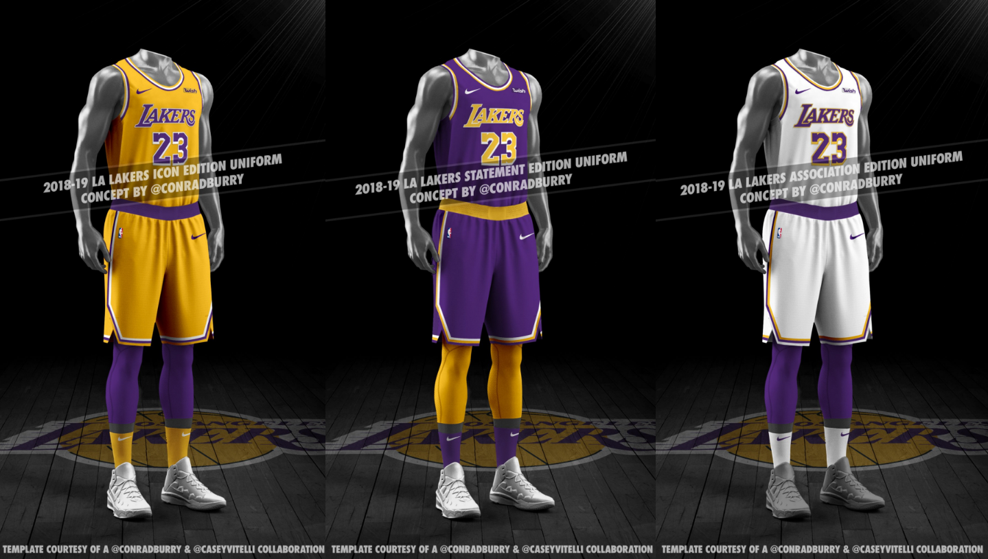 d87ca6f64018 Rumor  New 2018-19 Los Angeles Lakers jersey leaks - Lakers Outsiders